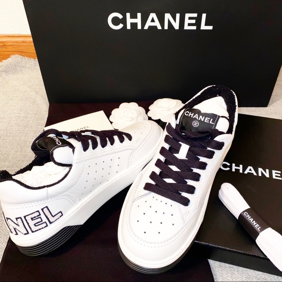 CHANEL Shoes | Chanel Calfskin Sneakers